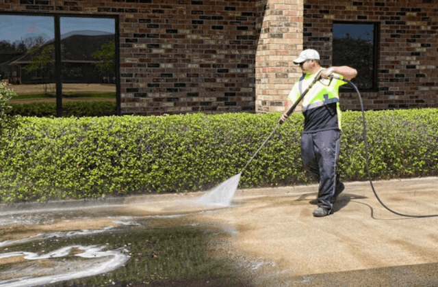 commercial concrete cleaning in bowie